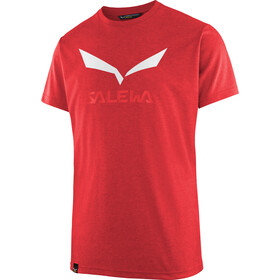 Salewa Solidlogo Dri-Release T-shirt manches courtes Homme, mountain red melange